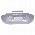 Lead clip-on wheel weights for steel rims