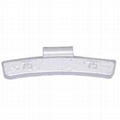 Lead clip-on wheel weights for alloy rims