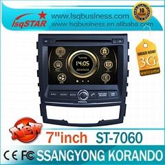 2 Din car dvd player for Ssangyong Korando 2010-2013 with BT Phonebook& A2DP,3G