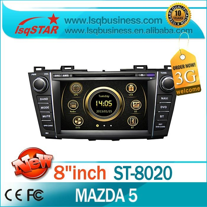 Car DVD for Mazda 5 2010-2011 with GPS,RDS Radio,ipod,V-CDC,BT,3G hot sales! 1