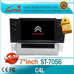 Cheap Citroen C4 L car stereo with BT,radio,ipod, 6cd,gps,3g! hot selling!
