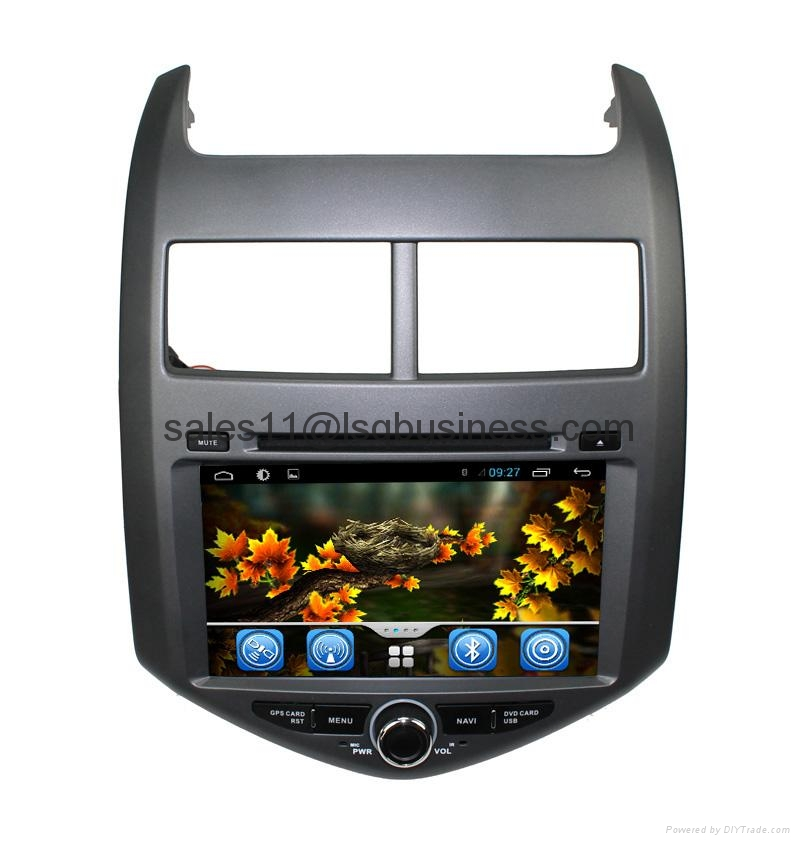 Pure Android 4.2 Car multimedia gps dvd player for Chevrolet Aveo with Steering  2