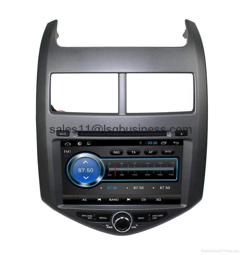 Pure Android 4.2 Car multimedia gps dvd player for Chevrolet Aveo with Steering  4