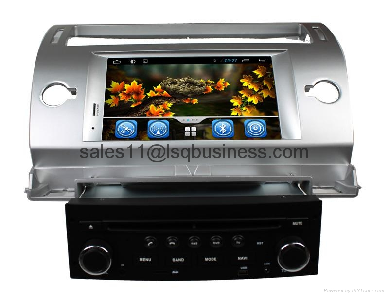 Pure Android 4.2.2 Autoradio DVD Player For Citroen C4 With Cortex A9  3