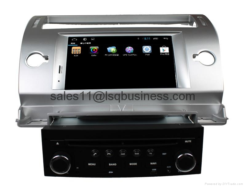 Pure Android 4.2.2 Autoradio DVD Player For Citroen C4 With Cortex A9  5