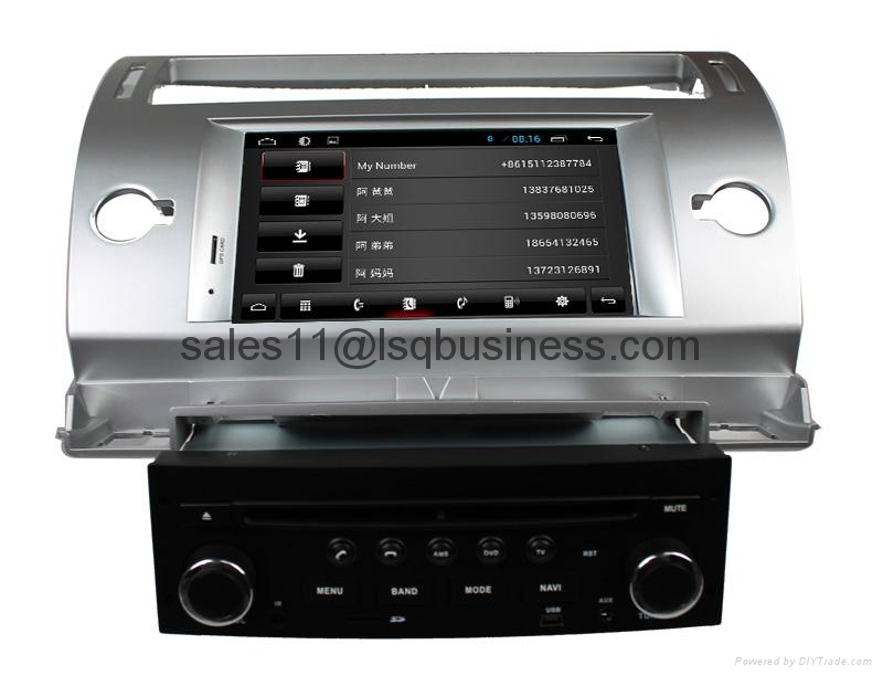 Pure Android 4.2.2 Autoradio DVD Player For Citroen C4 With Cortex A9  1