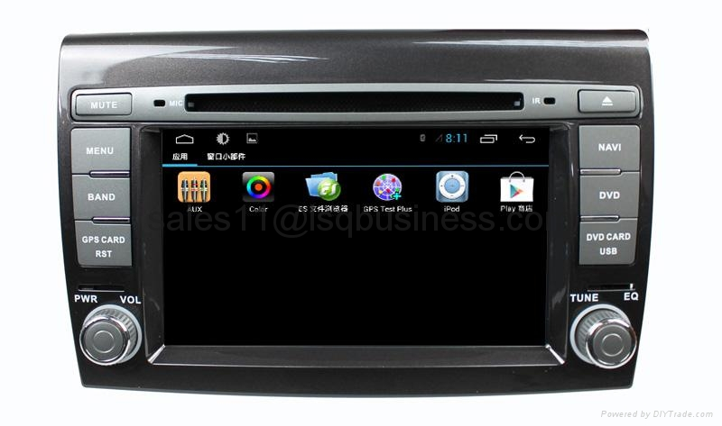 Lsqstar car dvd for FIAT Bravo 2007-2011with pure android 4.2  4