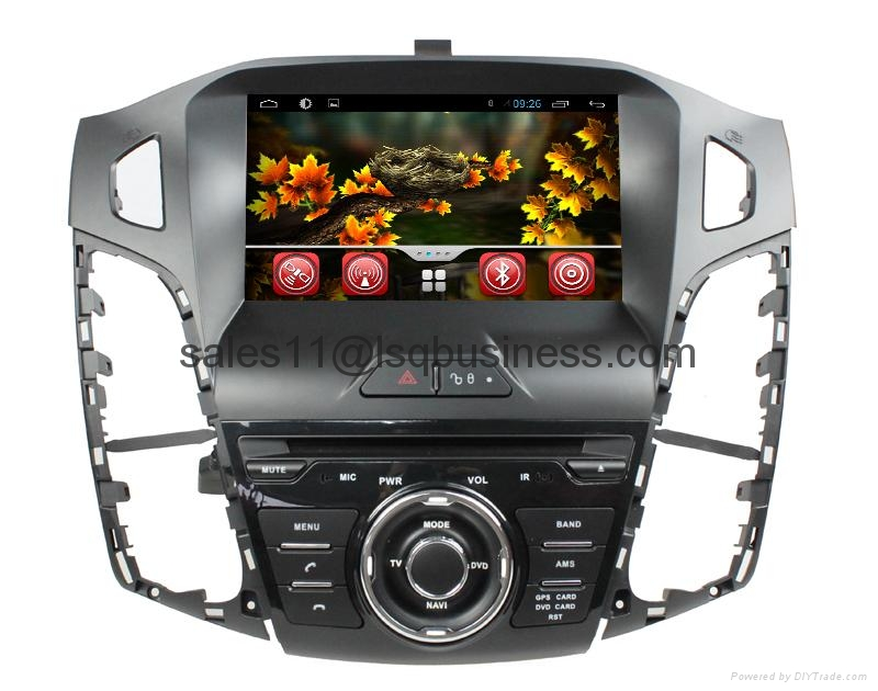 Android 4.2 capacitive touch screen car DVD player for Ford Focus 2012 3