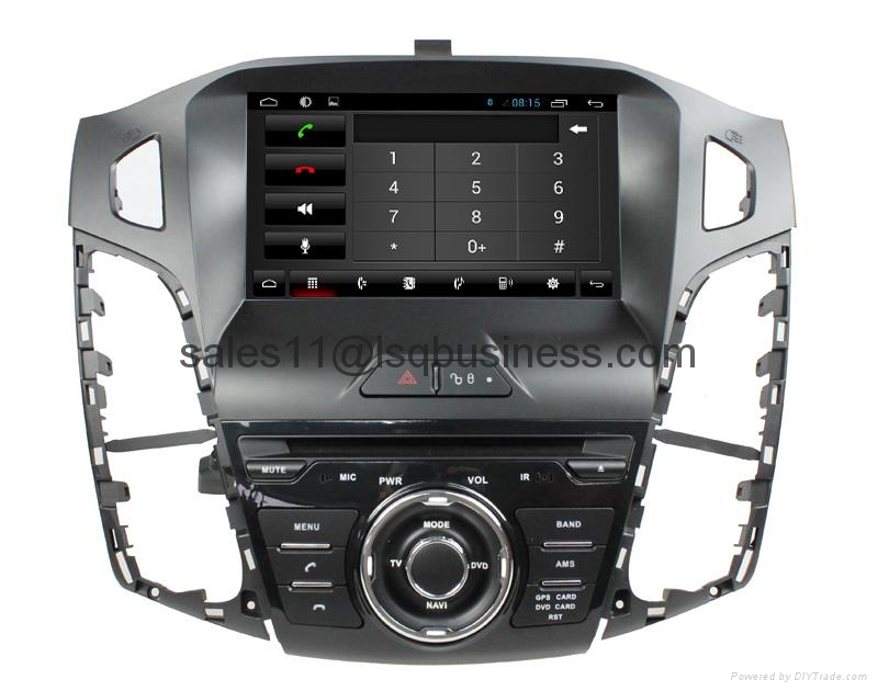 Android 4.2 capacitive touch screen car DVD player for Ford Focus 2012 5