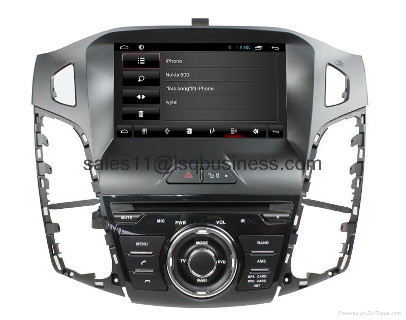 Android 4.2 capacitive touch screen car DVD player for Ford Focus 2012 6