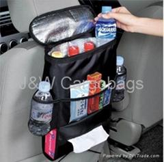 Backseat organizer with cooler