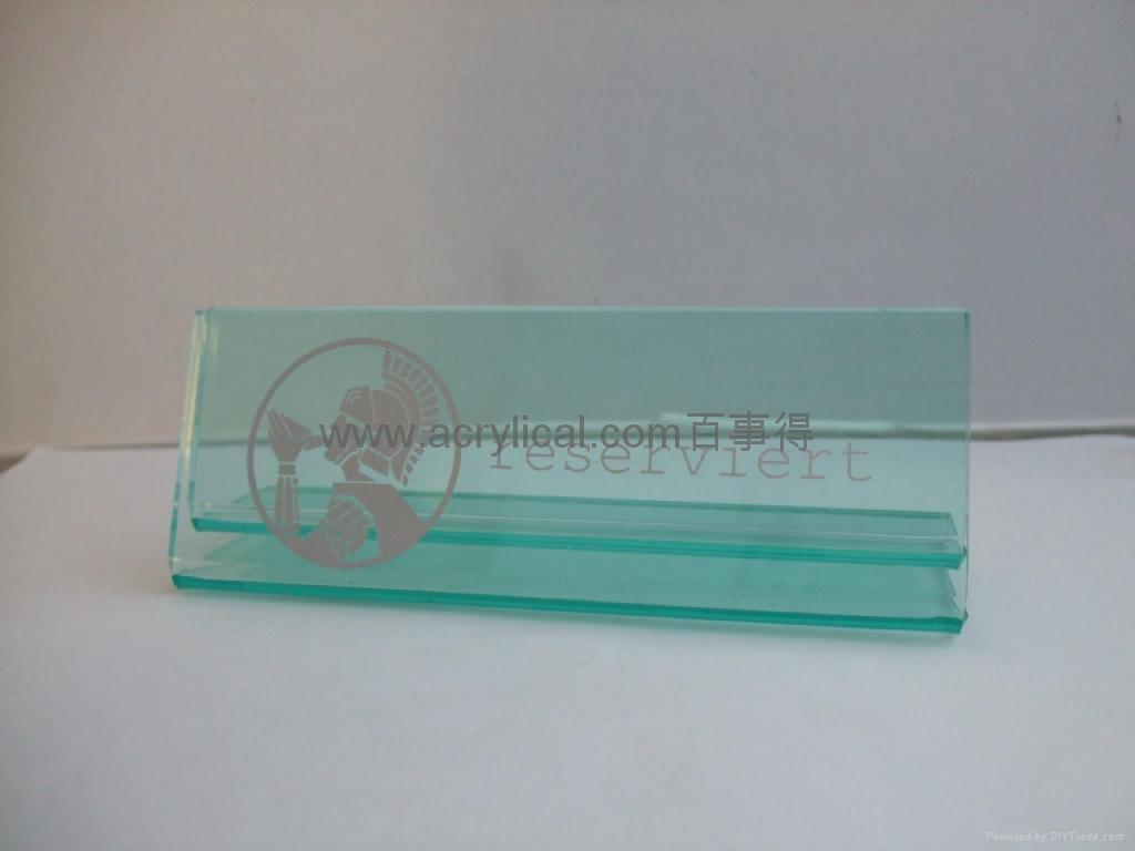 有機玻璃-餐牌座(acrylic menu holder) 2