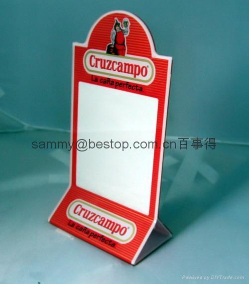 压克力餐牌,有机玻璃-餐牌座(acrylic menu holder)