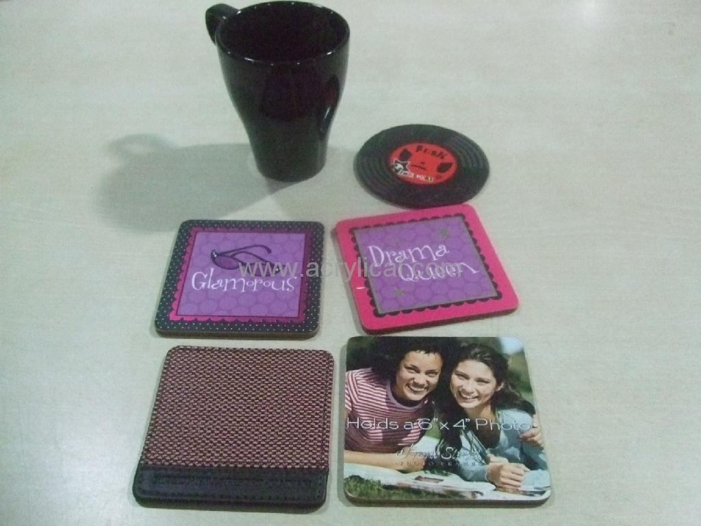 acrylic coaster  10x10cm  4mm thickness