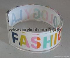Acrylic  fashion bangle bracelete