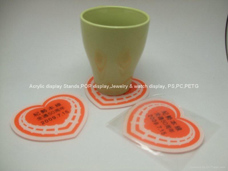 广告礼品,广告赠品-压克力杯垫 5
