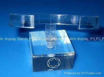 有機玻璃-手錶展示架/亞克力手錶C圈支架/ 3