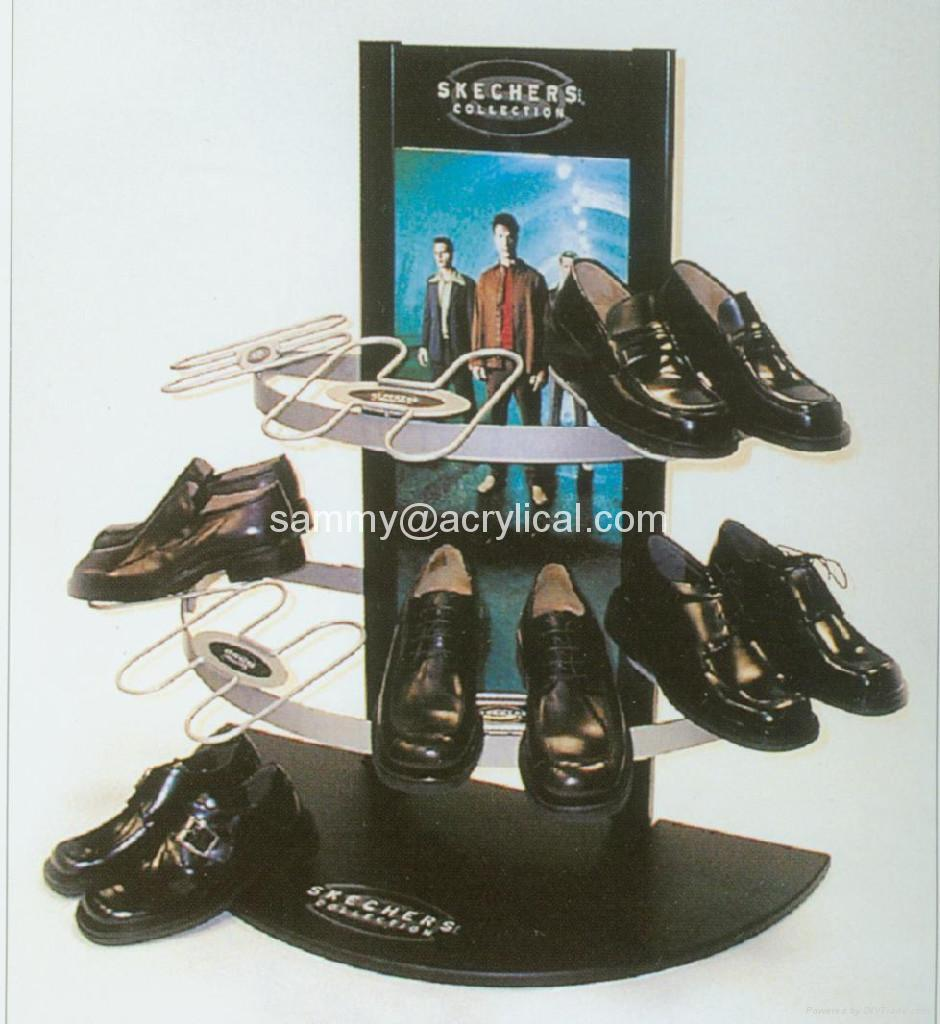 acrylic shoe riser stands
