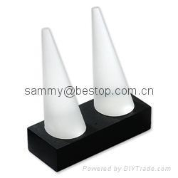 Jewelry display stand-cone