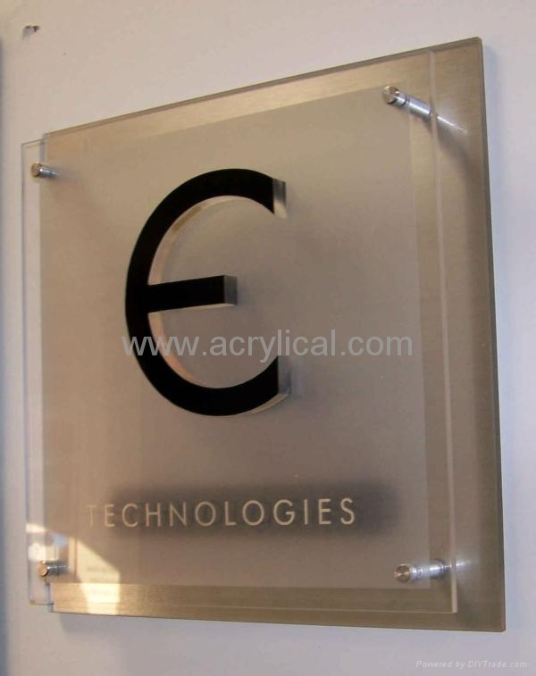 acrylic sign 500x300x12mm