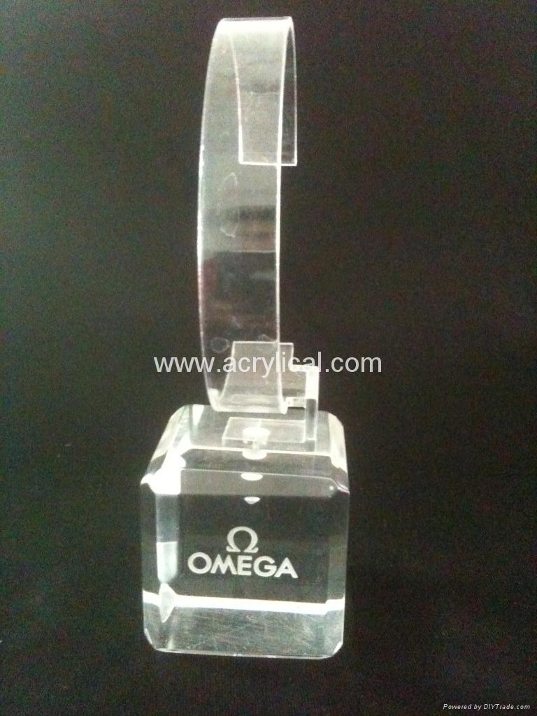 有机玻璃(亚克力)手表展示架/亚克力手表C圈支架/ 3