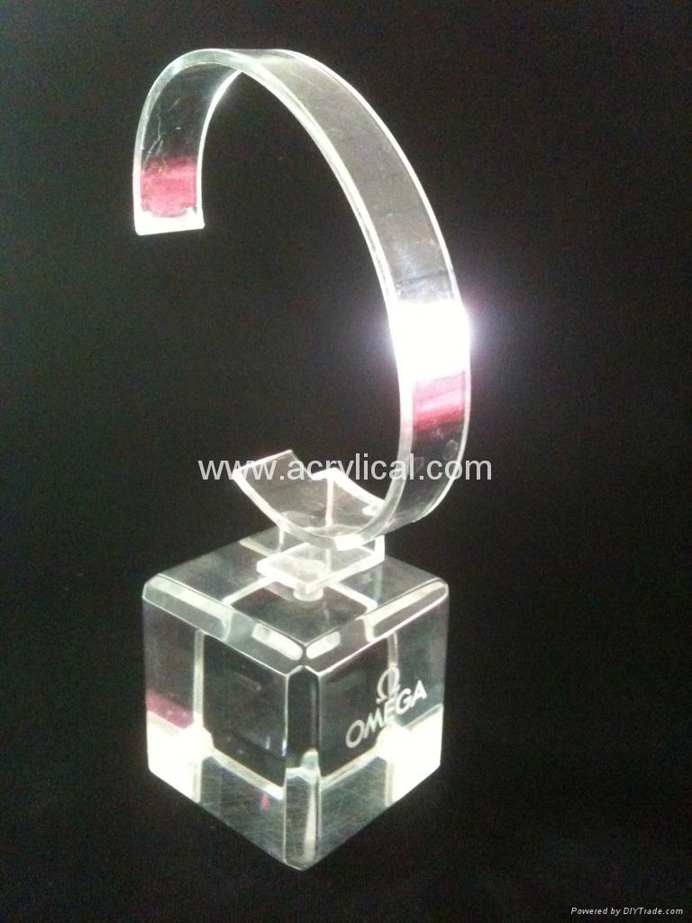 有机玻璃(亚克力)手表展示架/亚克力手表C圈支架/ 4