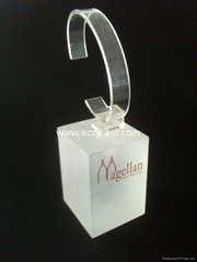 exhibition stand single watch holder custom acrylic watch display
