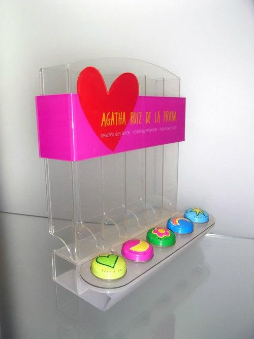 acrylic counter top display stand