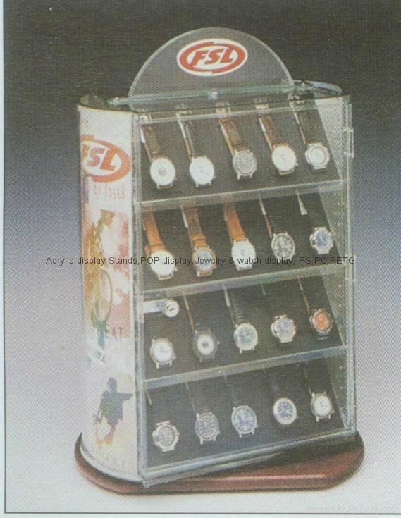 亚克力手表展示柜--可旋转,亚克力展示架,戒指架,首饰架子,珠宝展示道具戒指托,手指,戒底座