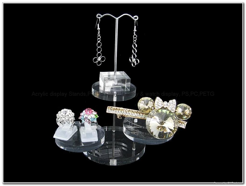 亚克力珠宝展示架,亚克力圆形 饰品 首饰道具 戒指 钻石 珠宝 摆件转台