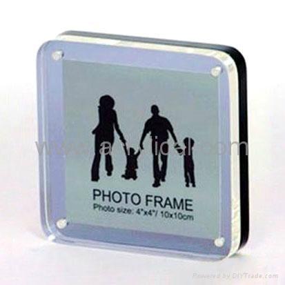 acrylic photo frame 100x100mm round edge