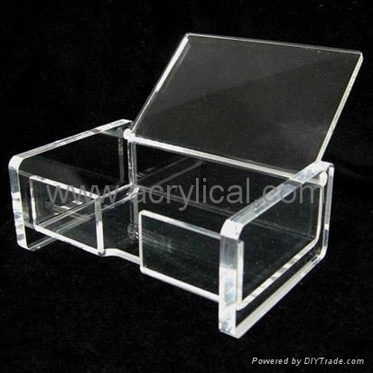acrylic name card holder Size:11(w)x5(D)x8(H)cm