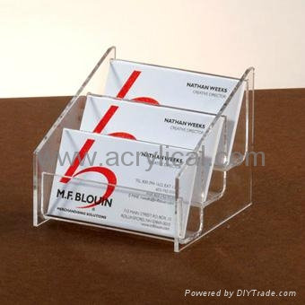 3 tirer name card holder