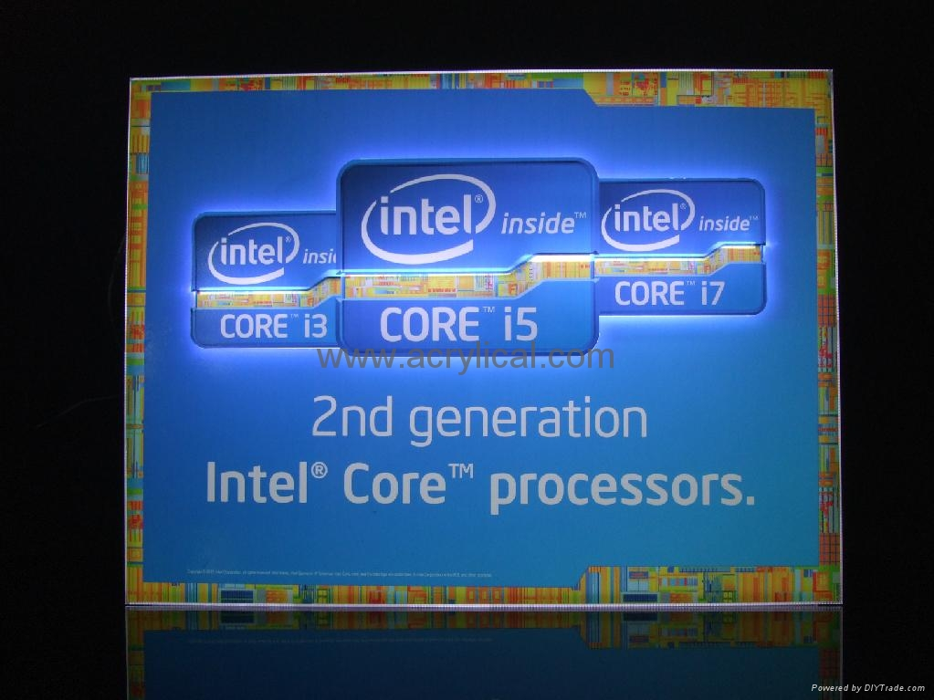LED SIGN DISPLAY STAND  for intel 4