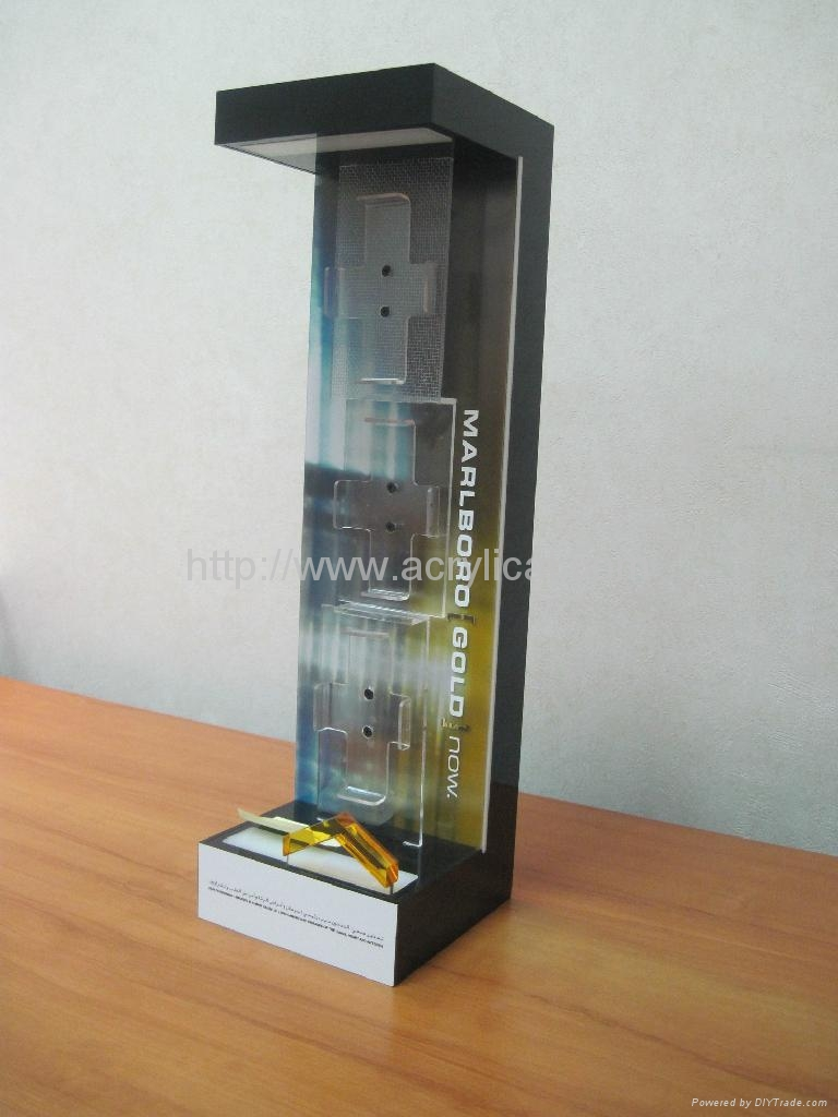 acrylic Cigarette counter top display stand with LED