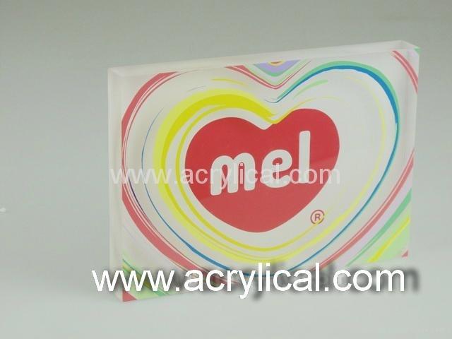 acrylic name plate 120x100x15mm 4c+0