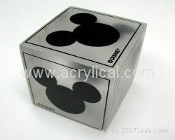 50x50x50mm acrylic cube,frosted sides