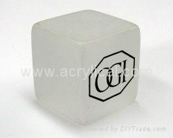 38x38x38mm acrylic cube,screen printing 1 color