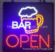 acrylic LED open sign