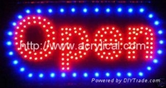 LED open sign,Wall mounted custom acrylic led light letter sign for retail store