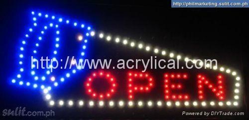 LED OPEN 牌/動態燈箱 4