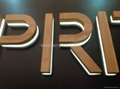 acrylic signage with Bamboo material