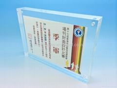 "acrylic block sign holder vertical/horizontal measures 4x6"""