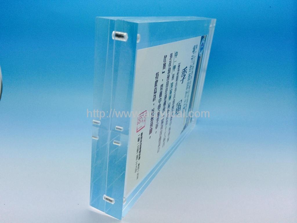 亚加力胶磁石相架4x6,亚克力相框,壓克力相框, 透明水晶相架 ,證書框架 ,海报夹