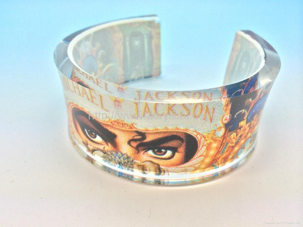 acrylic bangle with offset printing