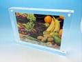 "acrylic block sign holder vertical/horizontal measures 4x7"""