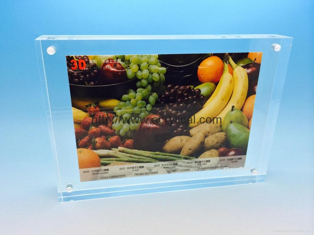 """亚加力胶磁石相架4x7"""",磁石相框 (压克力 相框),亚克力相框,壓克力相框, 透明水晶相架 ,證書框架 ,海报夹"""
