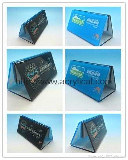 有機玻璃-餐牌座(acrylic menu holder)