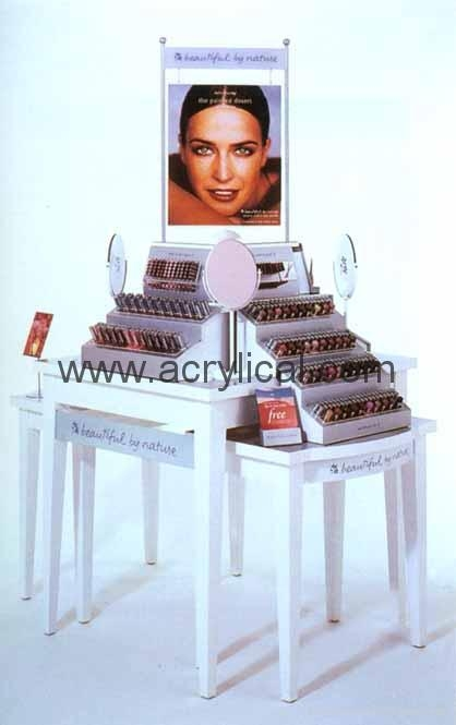 Acrylic Cosmetic Display stand,化妆品陈列架,商场促销展示架