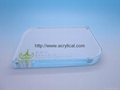 acrylic block sign holder vertical/horizontal measures 4R